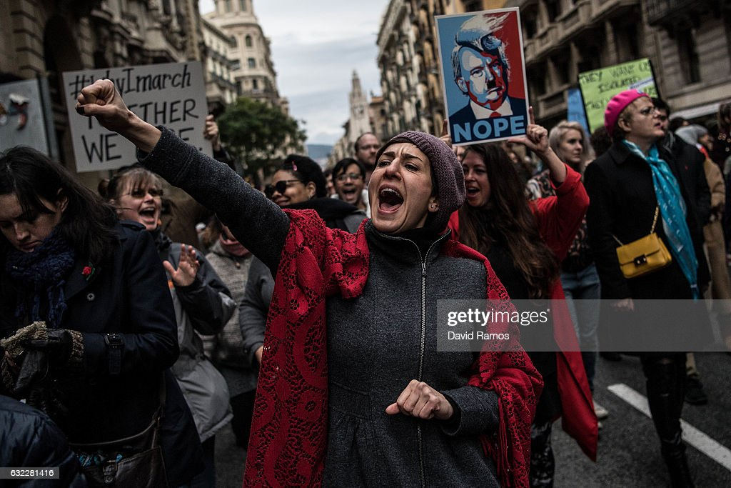 Women's March In Barcelona : News Photo