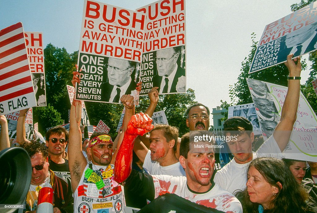 ACT UP Protest At The White House : News Photo