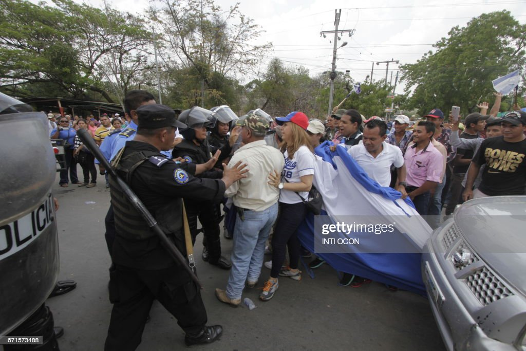 NICARAGUA-CANAL-PROTEST : News Photo
