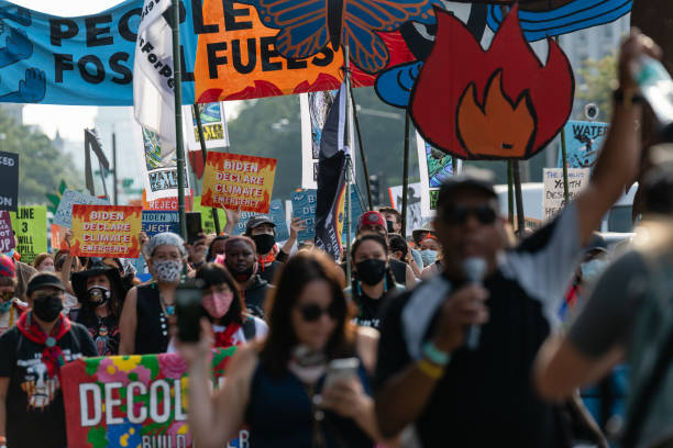 DC: Climate Activists March To U.S. Capitol