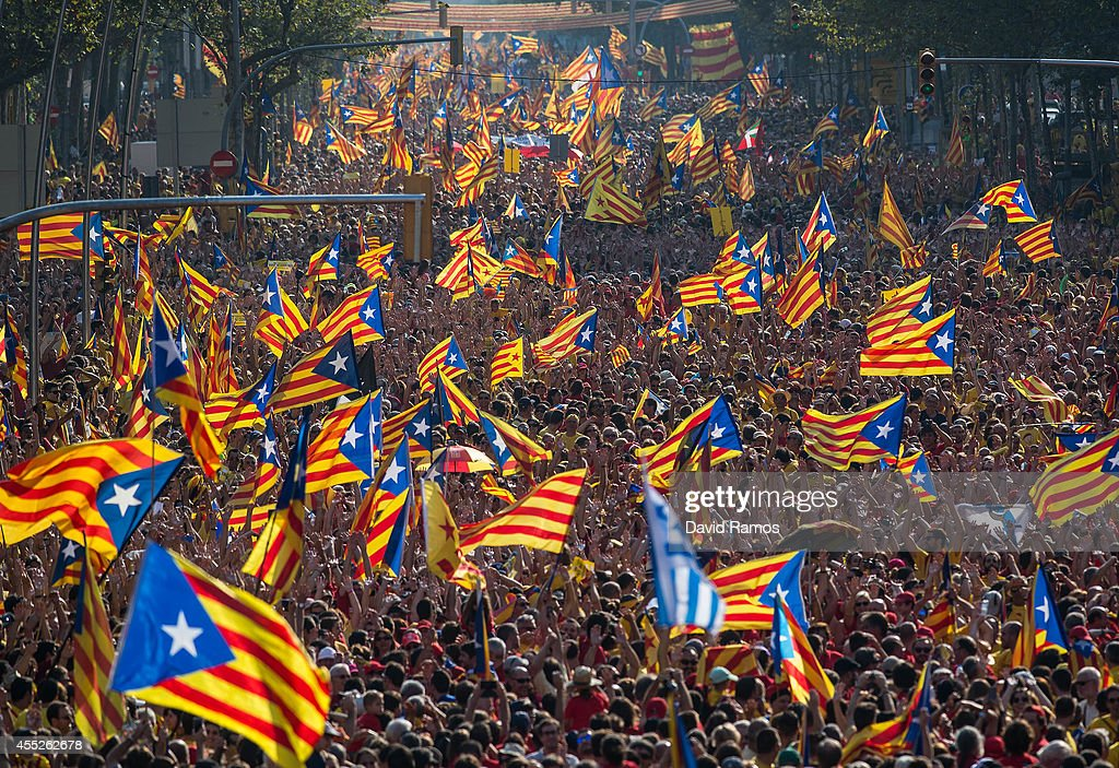 Catalan Independence Rally In Barcelona : Nieuwsfoto's