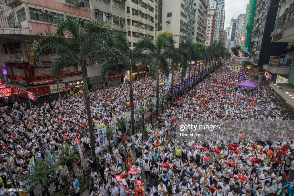 Thousands Protest Hong Kong Law Easing Extraditions to China : News Photo