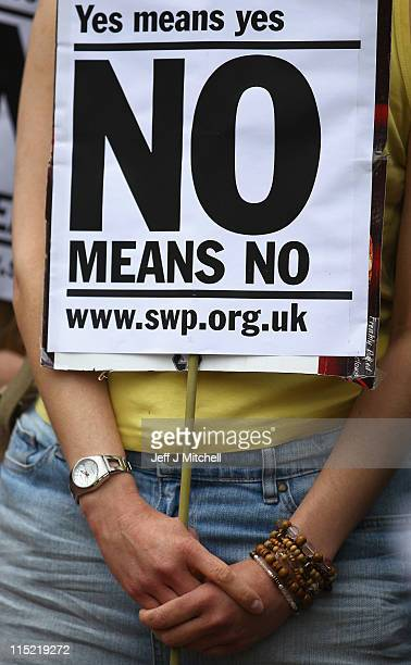 Demonstrators march on a Slutwalk on June 4 2011 in Glasgow Scotland Glasgow's first ever slut walk made its way through the town center streets in a...