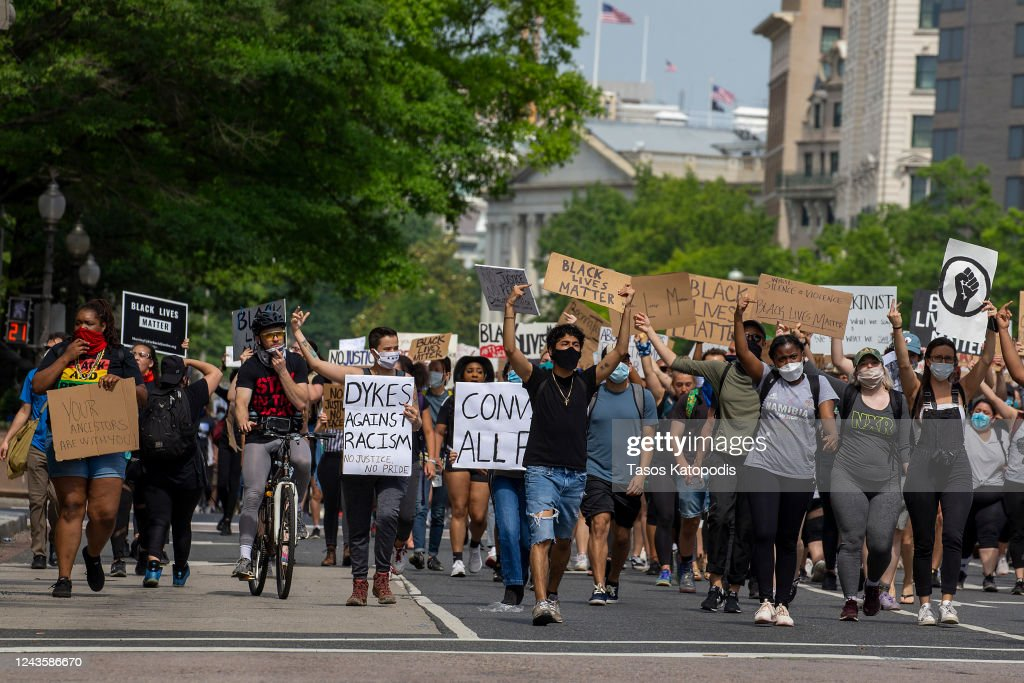 Protesters Demonstrate In D.C. Against Death Of George Floyd By Police Officer In Minneapolis : News Photo