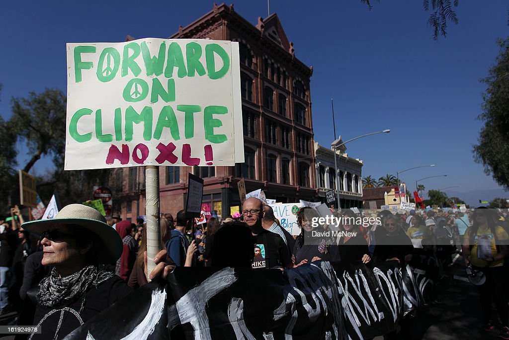 Rally In Los Angeles Calls For Action Against Climate Change