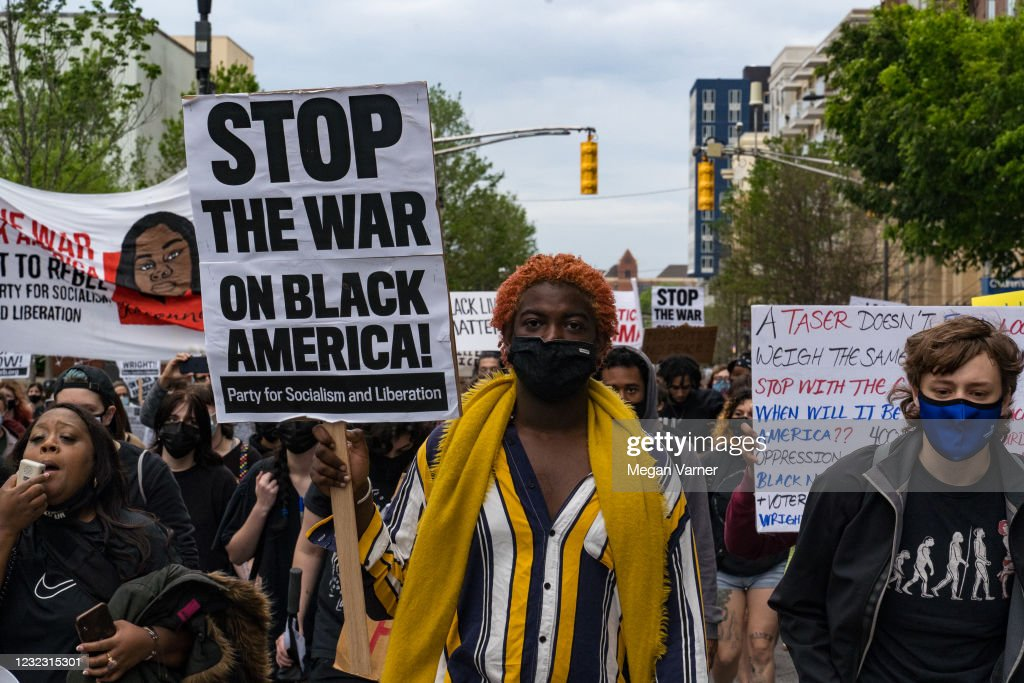 Activists Holds Rally In Atlanta Against Police Violence, Calling For Justice For Daunte Wright : News Photo