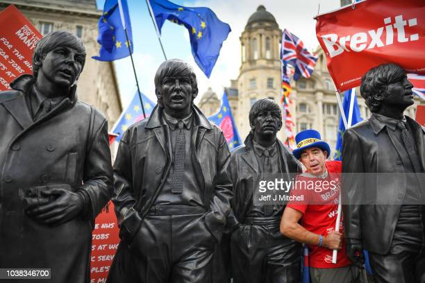 Demonstrators on the March For The Many on September 23 2018 in Liverpool England The March For The Many is calling for a people's vote on the final...