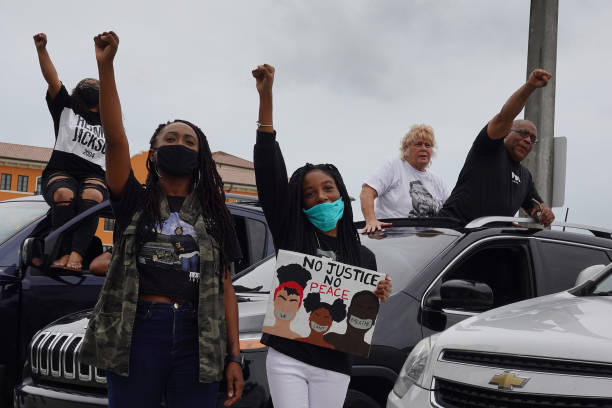 FL: Protesters In Florida Demonstrate Against Police Killing Of George Floyd