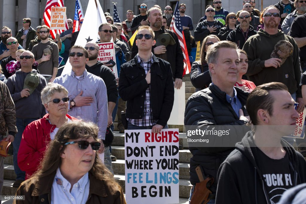 Gun Advocates Hold March For Our Rights Rally At Washington State Capitol