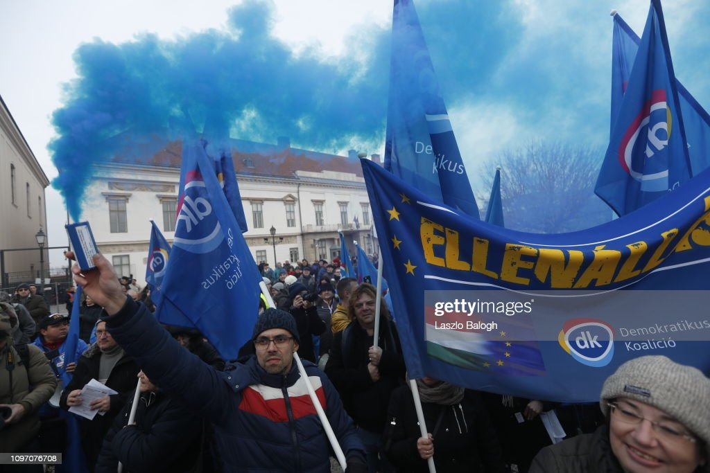 Orban's State Of The Nation Speech Attracts Anti-Government Protests : News Photo