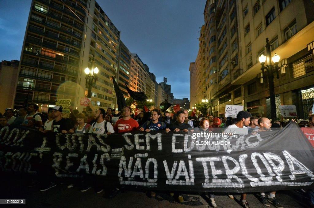 BRAZIL-FBL-WC2014-PROTEST : News Photo