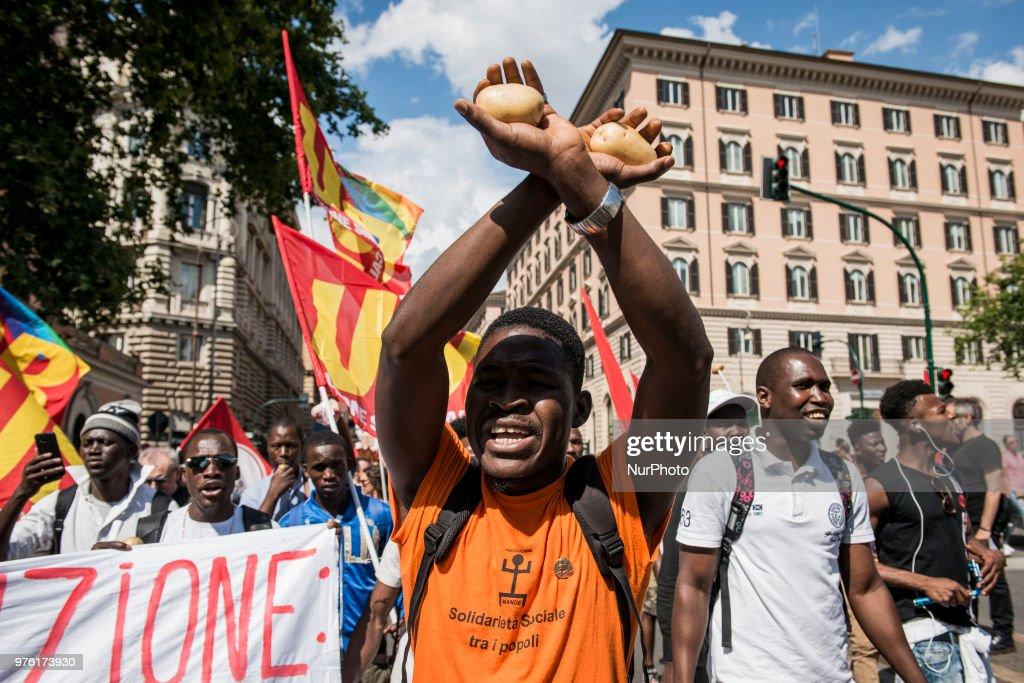 'Prima gli sfruttati' - March In Rome