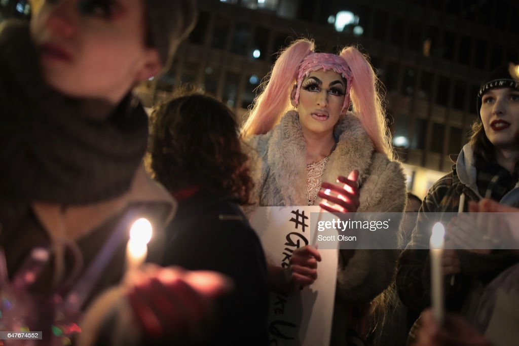 Activists In Chicago Rally For Transgender Protections : News Photo