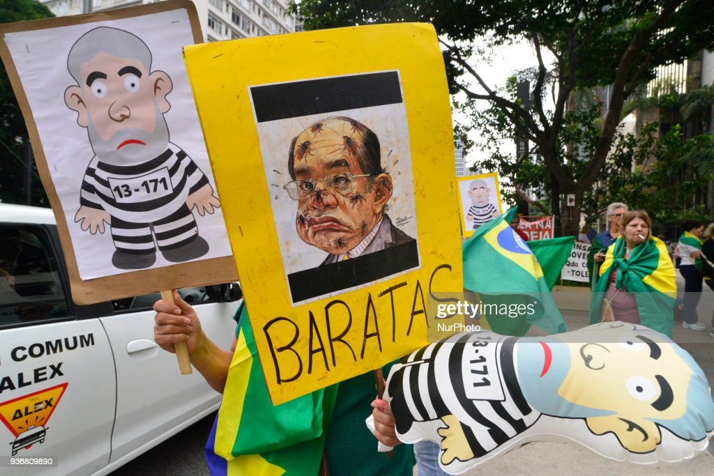 Protest against former president Lula