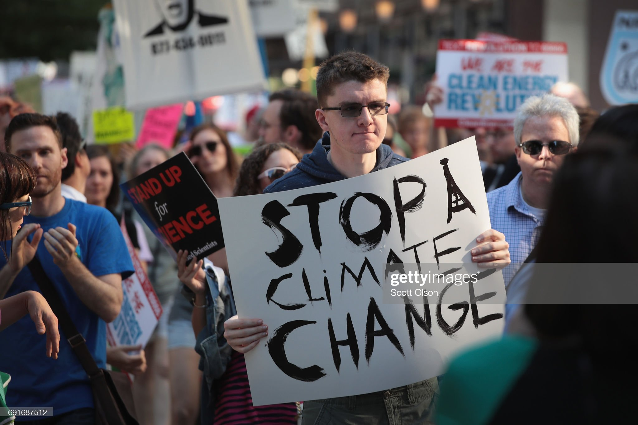 Environmental Activists In Chicago Protest Paris Climate Accord Decision : News Photo
