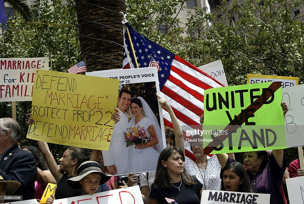 Anti gay marriage rally