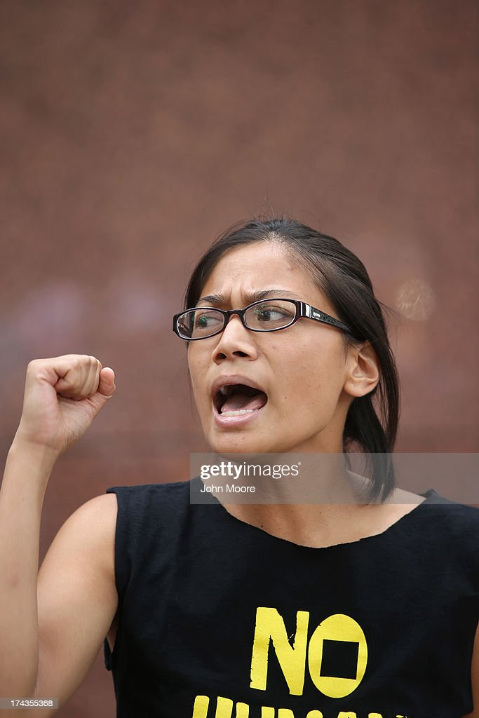 Demonstrators protest the deportation of undocumented immigrants on July 24, 2013 in New York City. Protesters from the New York State Youth Leadership Council staged the demonstration in front of the New York City offices of U.S. Senators Chuck Schumer (D-NY) and Kirsten Gillibrand (D-NY). They called for the release of eight young 'dreamer' activists who were detained Monday in Nogales, AZ while trying to cross the border from Mexico into the United States.
