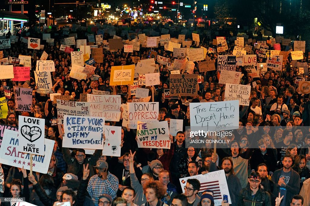 US-PROTEST-ELECTION : News Photo