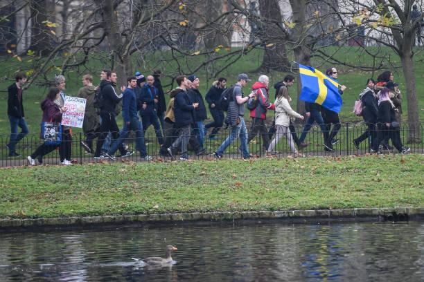 GBR: Demonstrators Protest UK Covid-19 Restrictions