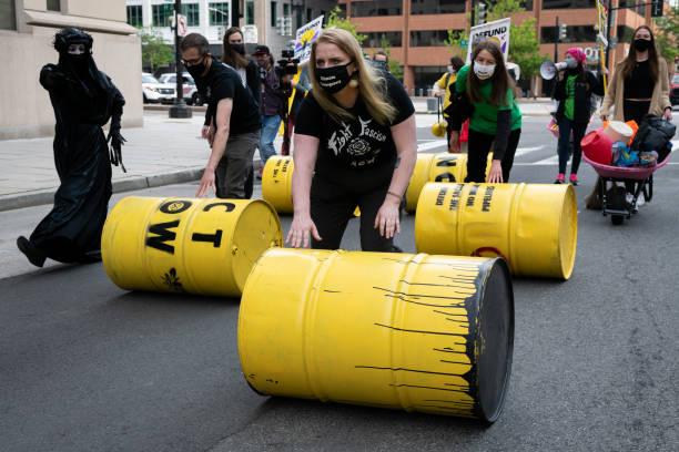 DC: Demonstrators Protest Enbridge's Line 3 Oil Pipeline