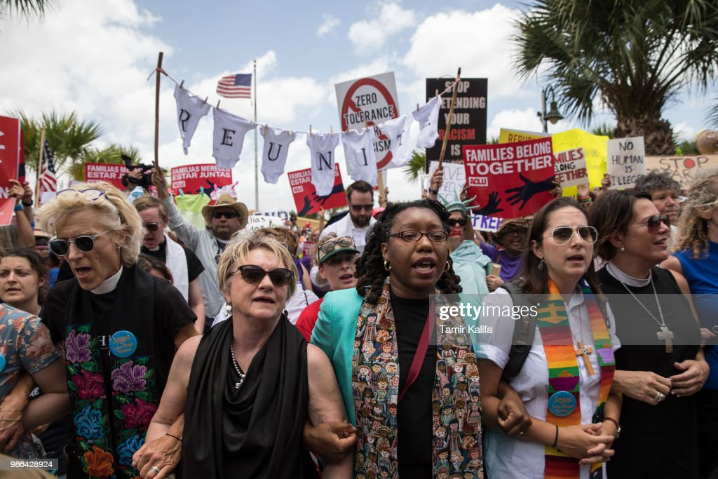 Rally Held At Brownsville, Texas Border Against Trump's Immigration Policies : News Photo