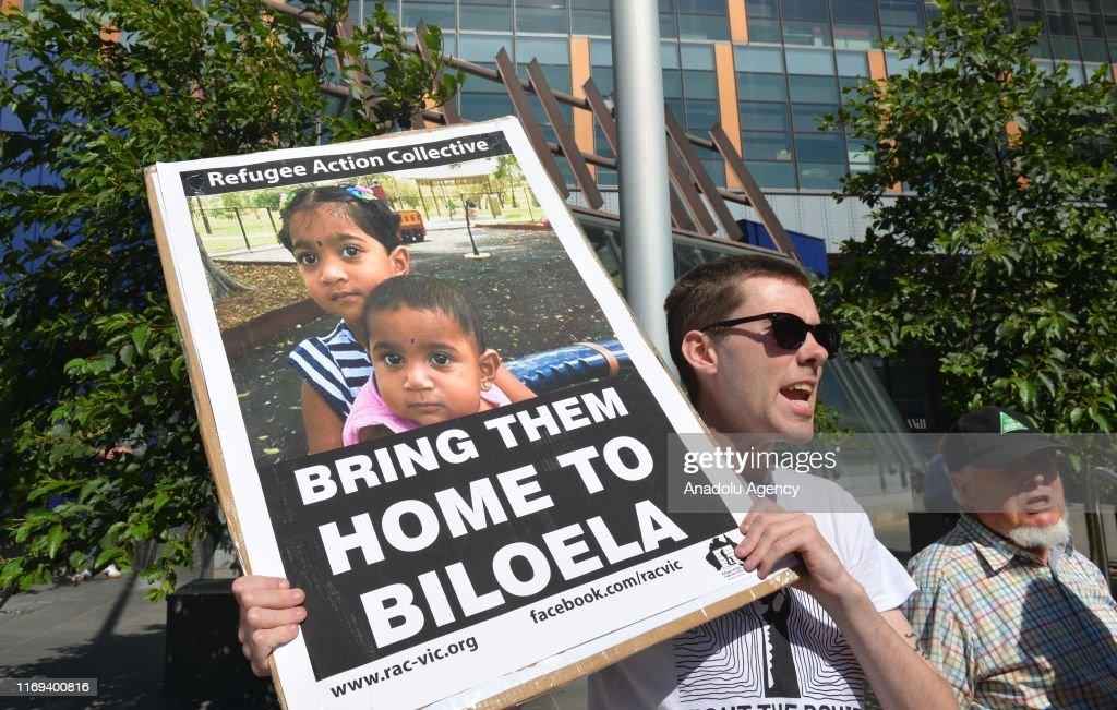 Tamil family deportation case in Australia : News Photo