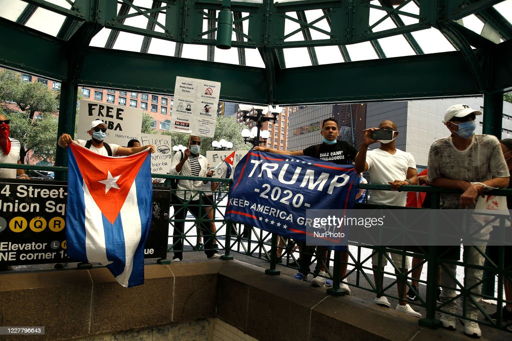 USA Hands Off Cuba Demonstration In New York City : News Photo