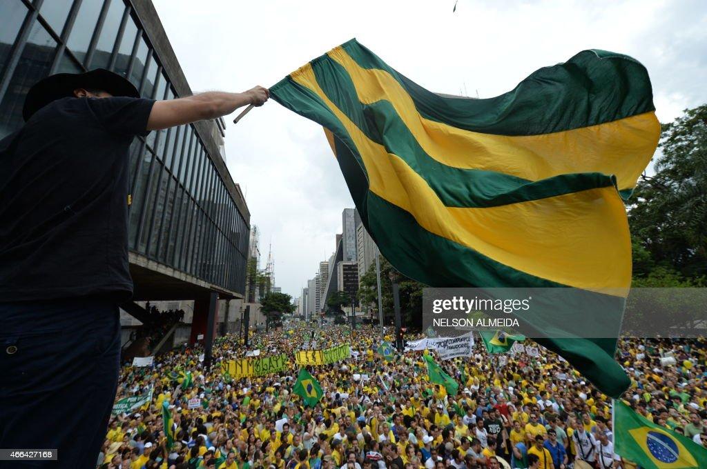 BRAZIL-POLITICS-PROTEST : News Photo