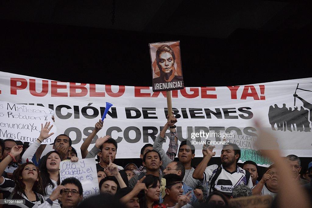 GUATEMALA-CORRUPTION-PROTEST : News Photo