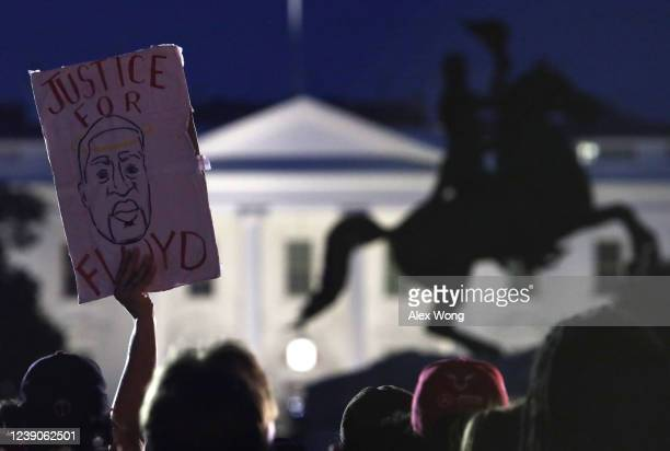 Demonstrators stage protest near the White House on May 31, 2020 in Washington, DC. Minneapolis police officer Derek Chauvin was arrested for Floyd's...