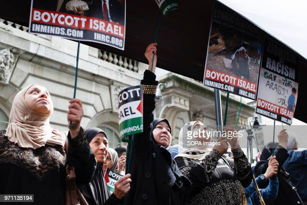Demonstrators take part in the annual proPalestine/antiIsrael Al Quds Day demonstration in central London The demonstration is notably controversial...