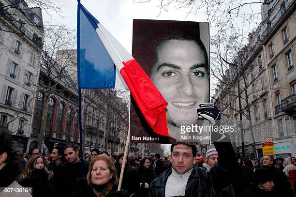 Demonstrators take to the streets of Paris during a march in memory of a young Jewish man Ilan Halimi aged 23 who was brutally killed by a gang...