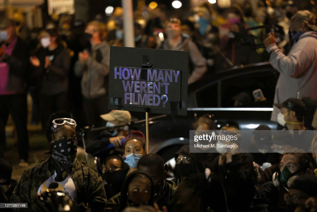 Release Of Police Video Of Daniel Prude's Detainment Sparks Protests In Rochester, New York : News Photo