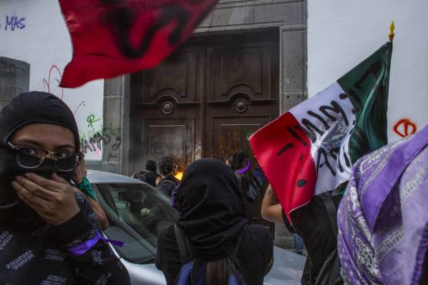 MEX: International Women's Day March As AMLO's Party Rocked By Rape Allegations