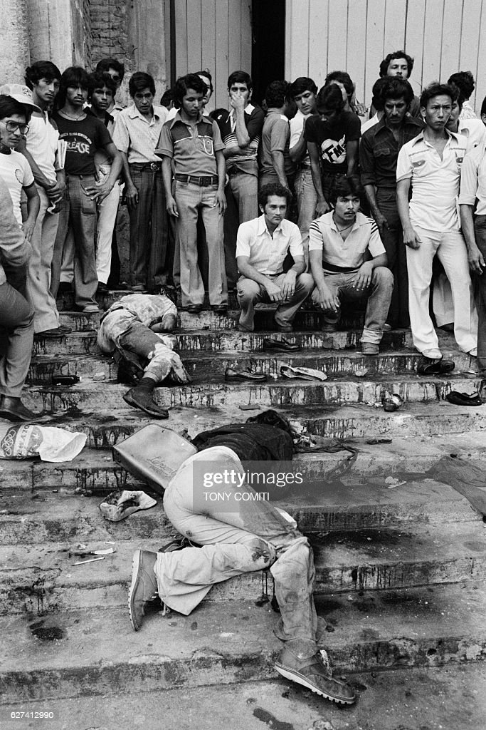 25 demonstrators were shot by the army on the steps of the San Salvador cathedral where they had gathered to show their support of the commanos of the rebel movement Bloc Populaire Revolutionnaire (BPR).