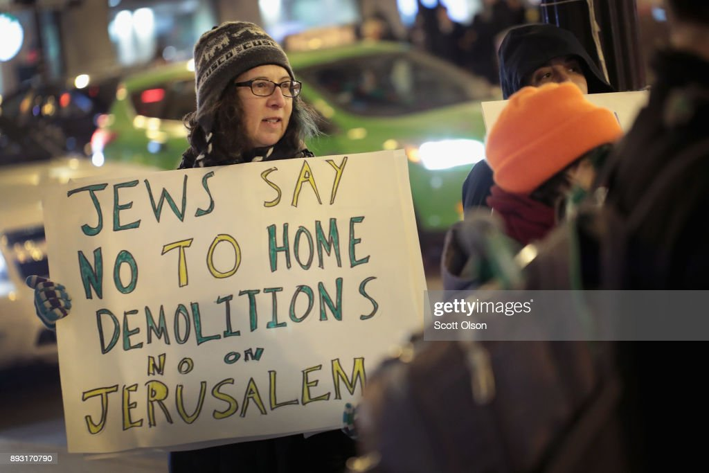 Protestors In Chicago Rally Against Trump's Jerusalem Decision