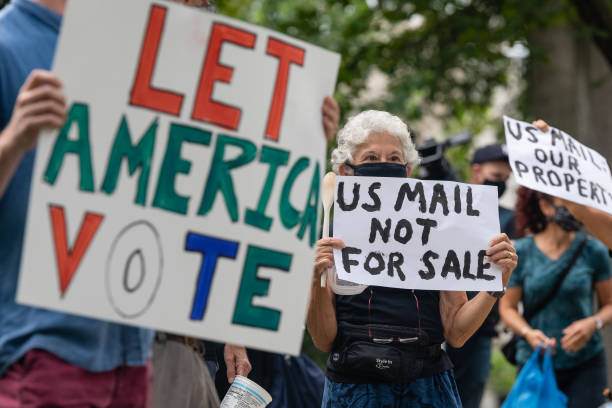 DC: Demonstrators Protest Suppression Of Mail-In Voting