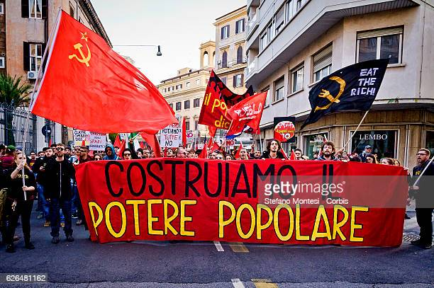 Demostration organized by the Committees for the No at upcoming Constitutional referendum to be held on December 4 on November 27 2016 in Rome Italy...