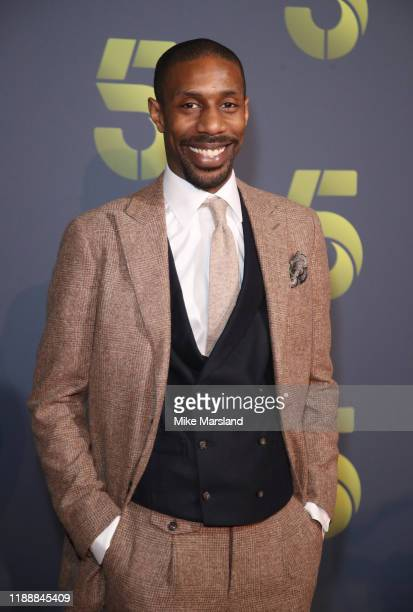 Dempsey Bovell attends the Channel 5 2020 Upfront photocall at St Pancras Renaissance London Hotel on November 19 2019 in London England