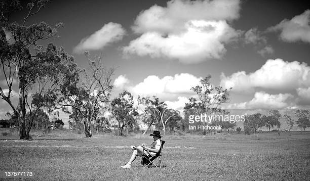 Dempsey McCoy from the team 'Wolf Pack' sits alone whilst scoring during the 2012 Goldfield Ashes cricket competition on January 21 2012 in Charters...