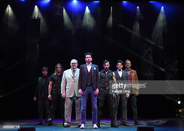 Den Den Ben Blaque Kevin James Jamie Raven Andrew Basso Colin Cloud and David Williamson attend a photocall for 'The Illusionists' at Shaftesbury...