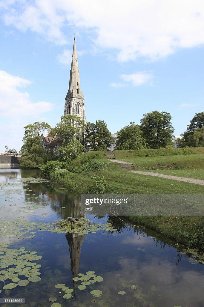 Den Engelske Kirke - The English church in Copenhagen : Stock Photo