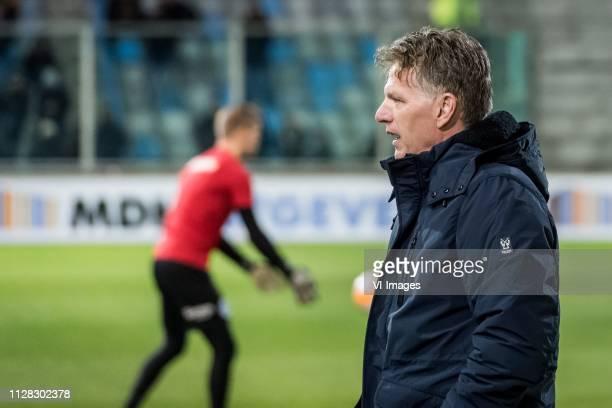 ADO Den Haag coach Alfons Fons Groenendijk during the Dutch Eredivisie match between De Graafschap Doetinchem and ADO Den Haag at De Vijverberg...