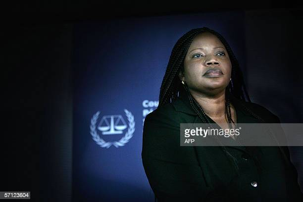 Fatou Bensouda assistent prosecutor of the International Criminal Court's attends a press conference 18 March 2006 in The Hague a day after Thomas...