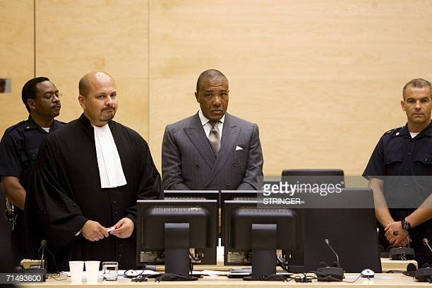 Former Liberian President Charles Taylor appears in court 21 July 2006 as the tribunal prosecuting war crimes from Sierra Leone's decadelong conflict...