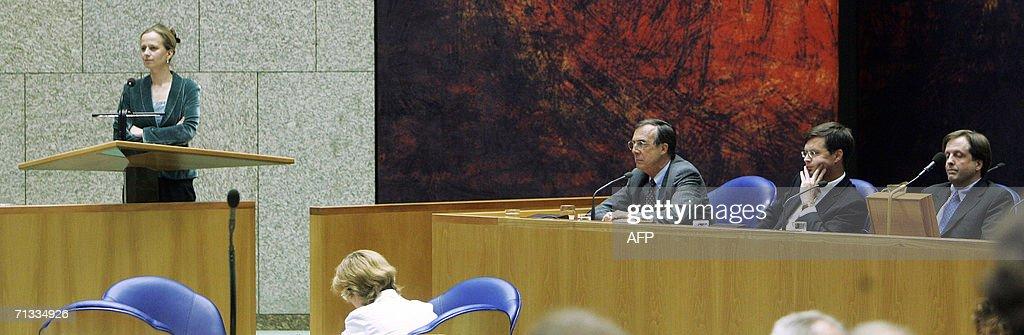 Lousewies van der Laan of the governments junior