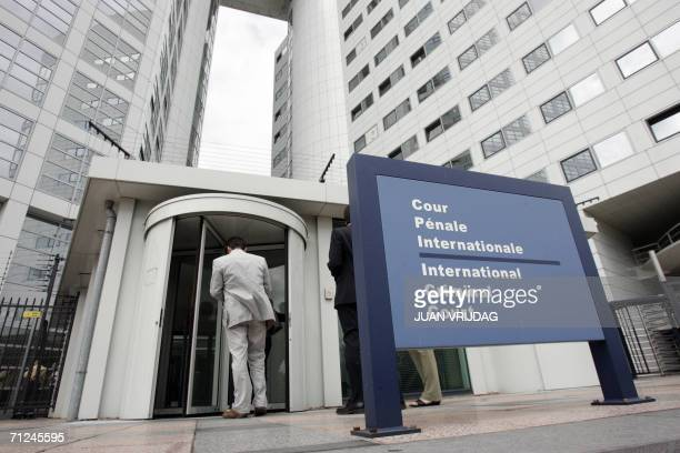 People enter the International Criminal Court 20 June 2006 in the Hague Former Liberian president Charles Taylor was today en route to the...