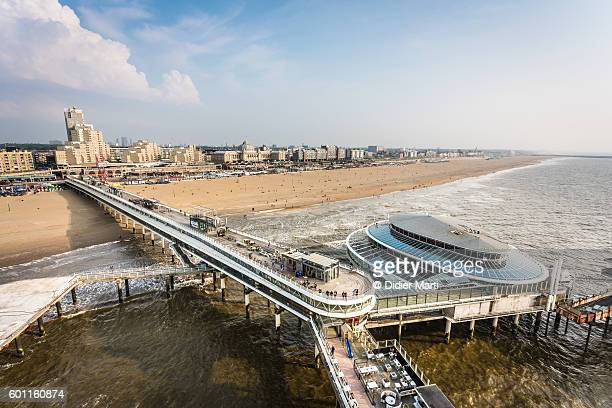 den haag seafront pier in the netherlands - didier marti stock photos and pictures