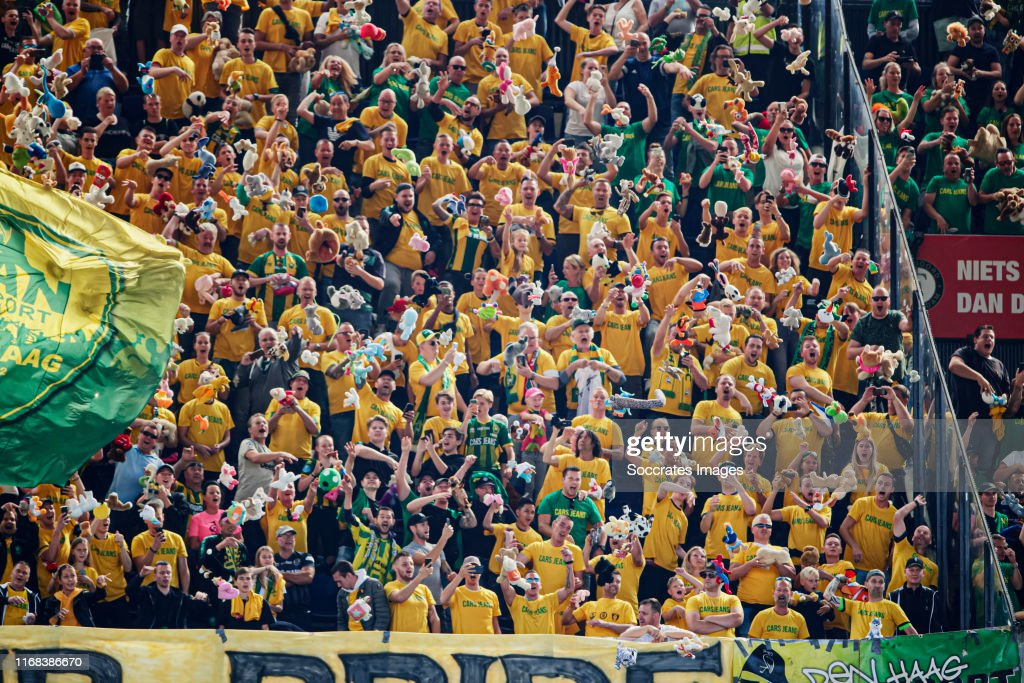 Ado Den Haag Supporters Throw Cuddly Toys At Feyenoord Fans To News Photo Getty Images