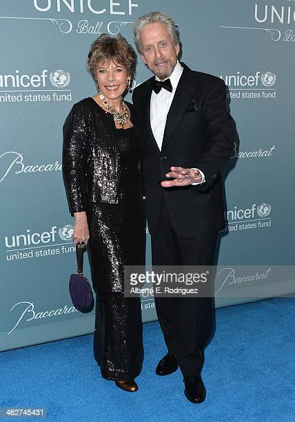 Dena Kaye and actor Michael Douglas arrive to the 2014 UNICEF Ball Presented by Baccarat at the Regent Beverly Wilshire Hotel on January 14 2014 in...